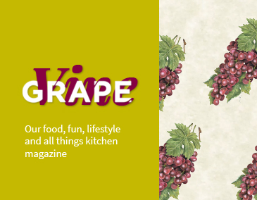 Grape Vine Text aside Grapes (Mobile)