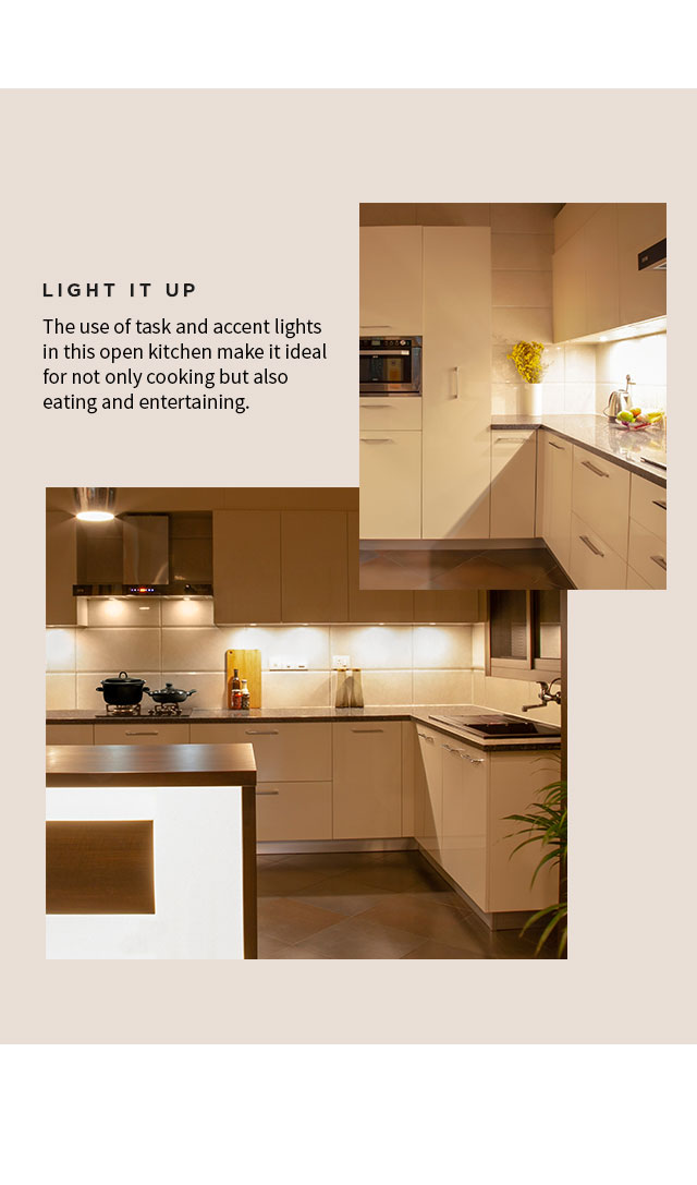 Light it up | Light with Style - IFB Modular Kitchen Accent Lighting