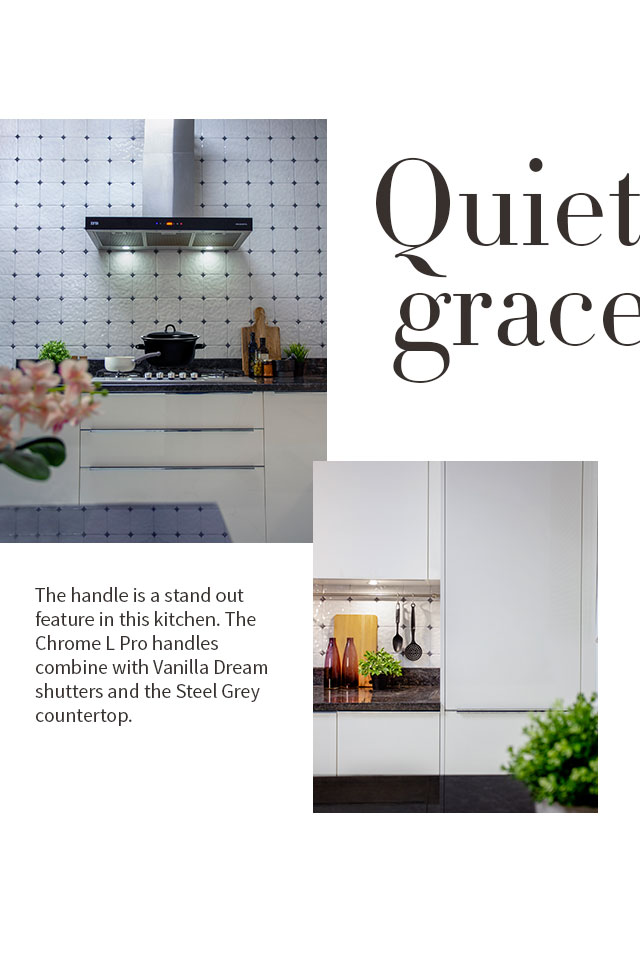 Quiet Grace | Chrome L Pro Kitchen Design - IFB Modular Kitchen