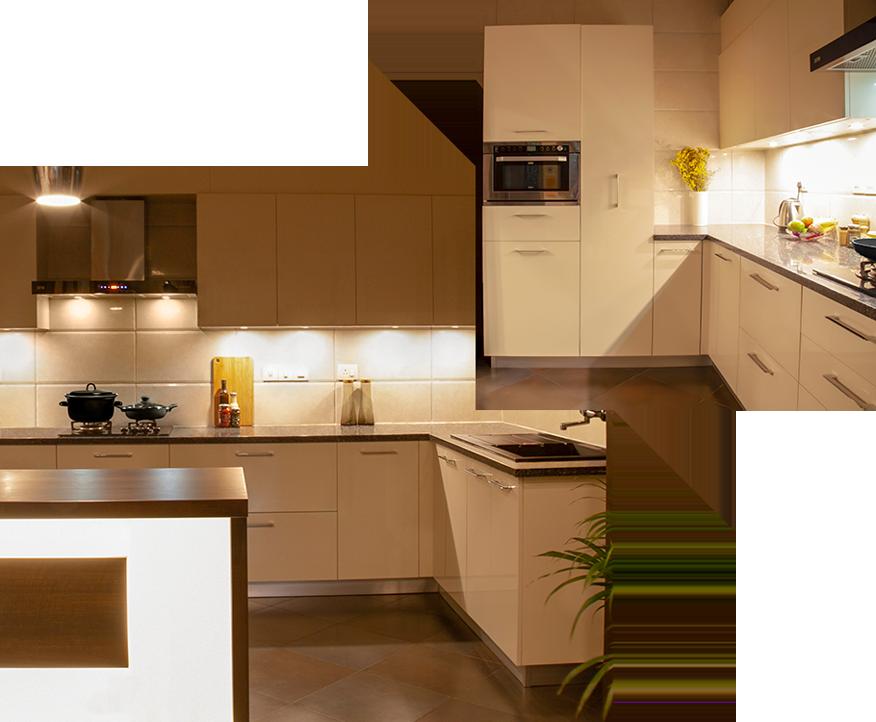 Finished IFB Modular Kitchen Project | Light it Up - IFB Modular Kitchen