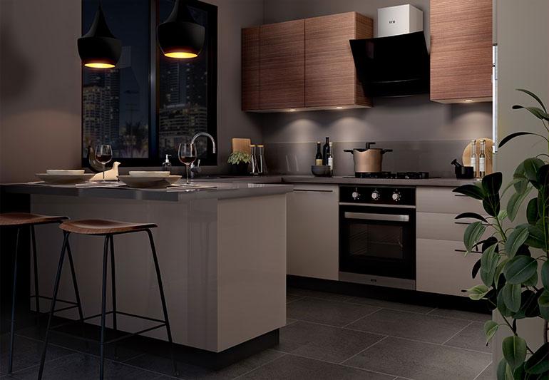 Champagne Muse | Kitchen Collection - IFB Modular Kitchen