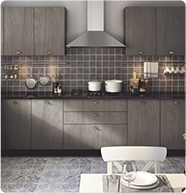 Soft Corner | Kitchen Collection (Tile Image) - IFB Modular Kitchen
