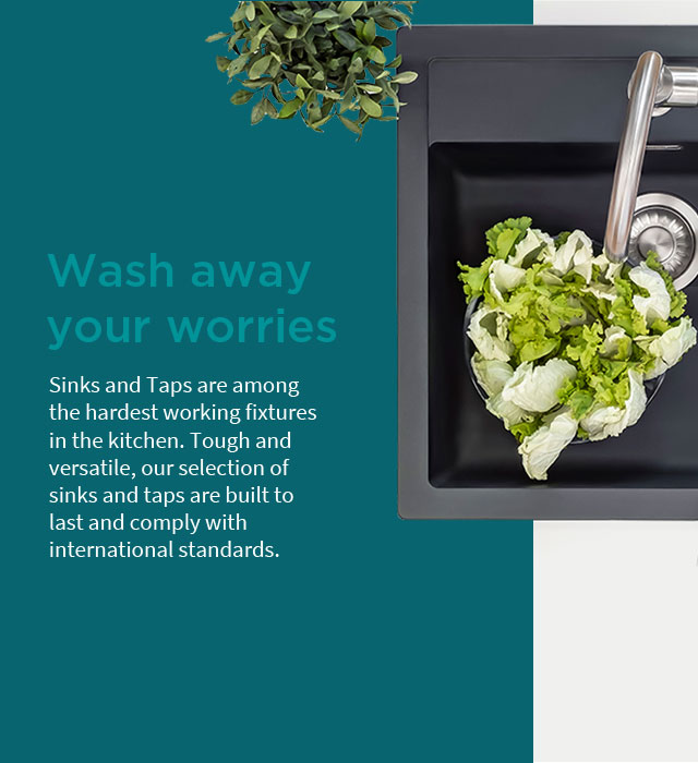 Wash away your worries with IFB Sinks and Taps - IFB Modular Kitchen