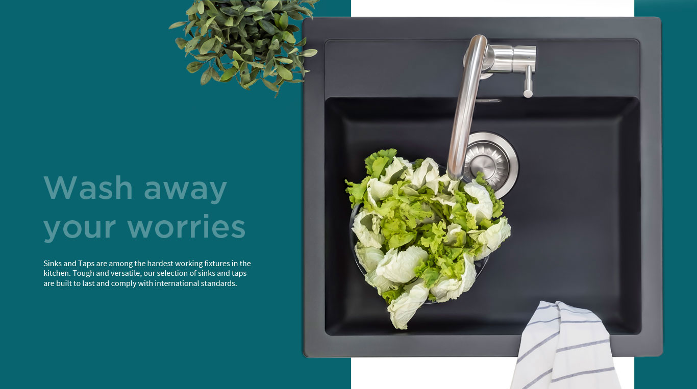 Wash away your worries with IFB Sinks and Taps Banner - IFB Modular Kitchen
