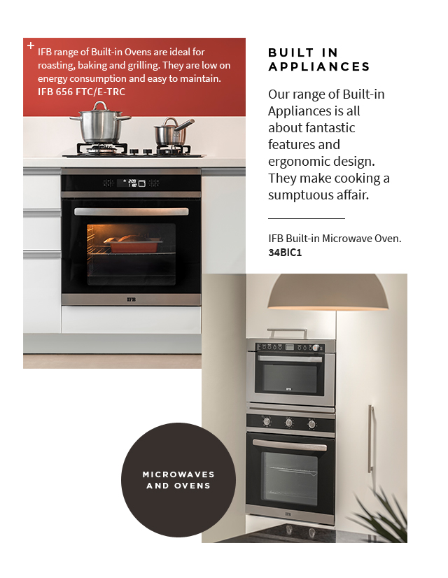 IFB Built in Kitchen Appliances Microwave and Oven (Mobile) - IFB Modular Kitchen