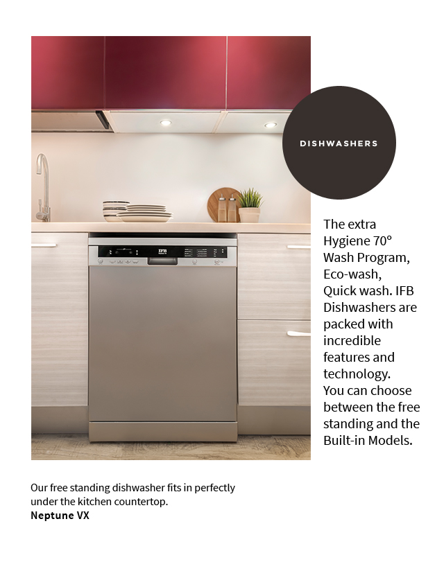 IFB Dishwater - Built in Model (Mobile) | IFB Kitchen Appliances - IFB Modular Kitchen