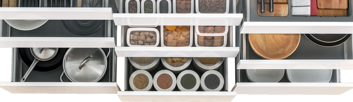 Cabinets and Storage Options for Kitchen - IFB Modular Kitchen