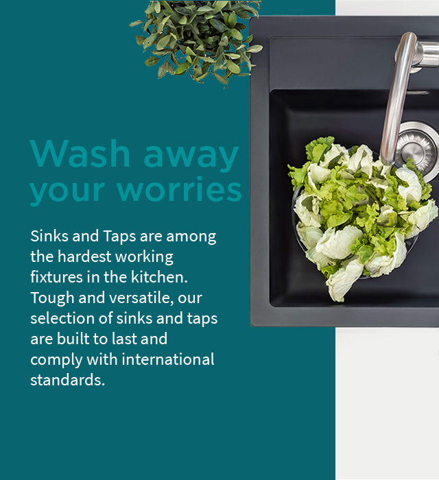 Wash away your worries with IFB Sinks and Taps (Mobile) - IFB Modular Kitchen