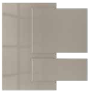 Champagne - Acrylic faced MDF     Kitchen Shutter Material - IFB Modular Kitchen
